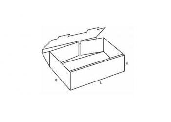 Cardboard tray drawing