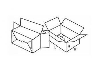 Shelf ready cardboard packaging drawing